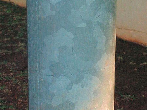 29. TYPICAL SPANGLED HOT DIP GALVANIZED COATING